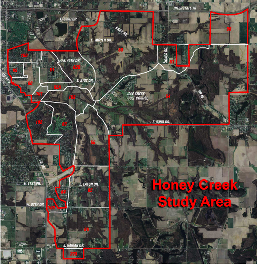 Honey Creek Map